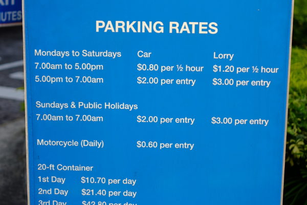 Building parking rates